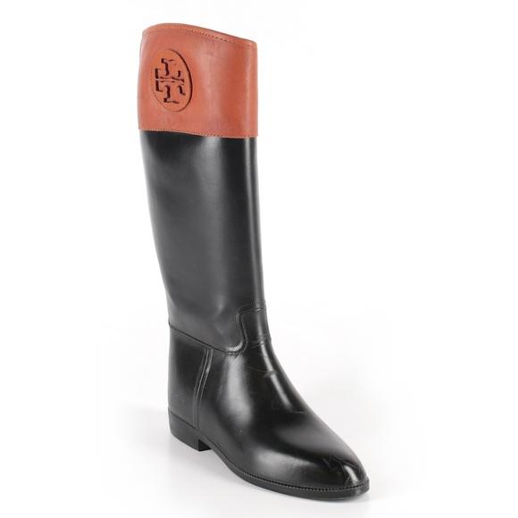 fbe01fee9c5b  Tory Burch  Winnie Rubber Riding Boots. M 5b7edf8a95199686416f2043
